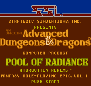 Screenshot Thumbnail / Media File 1 for Advanced Dungeons & Dragons - Pool of Radiance (Japan)
