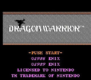 Screenshot Thumbnail / Media File 1 for Dragon Warrior (USA) (Rev A)