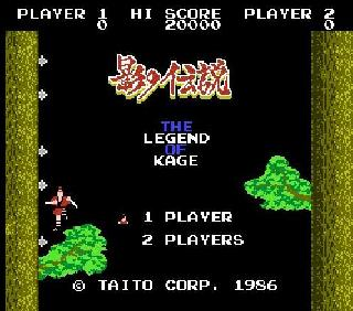 Screenshot Thumbnail / Media File 1 for Legend of Kage, The (USA)