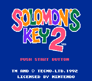 Screenshot Thumbnail / Media File 1 for Solomon's Key 2 (USA) (Beta)