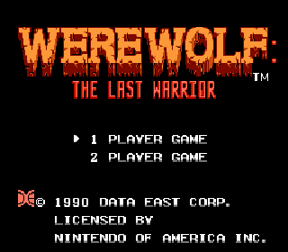Screenshot Thumbnail / Media File 1 for Werewolf - The Last Warrior (Europe)
