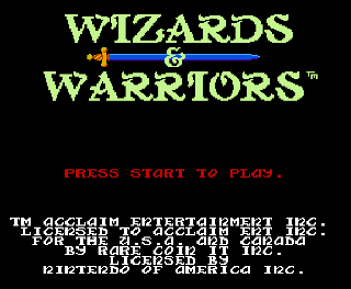 Screenshot Thumbnail / Media File 1 for Wizards & Warriors (USA) (Rev A)