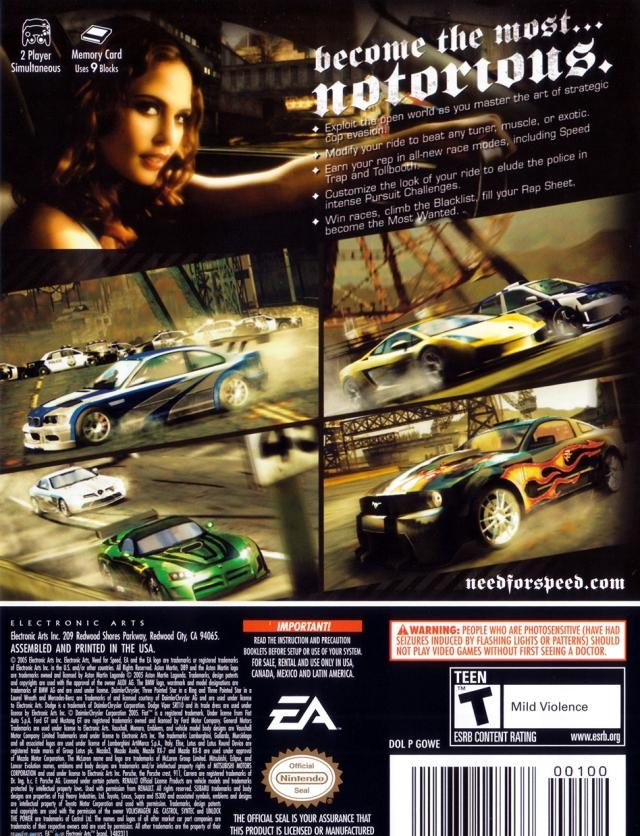 Need For Speed Most Wanted ISO < GCN ISOs | Emuparadise