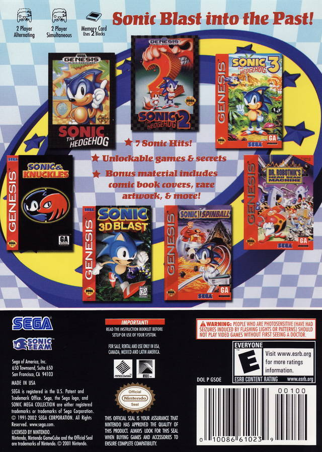 Sonic Mega Collection Iso Gcn Isos Emuparadise