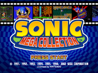 Screenshot Thumbnail / Media File 1 for Sonic Mega Collection (Europe) (En,Fr,De,Es,It)