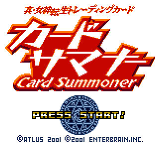 Screenshot Thumbnail / Media File 1 for Shin Megami Tensei Trading Card - Card Summoner (Japan)