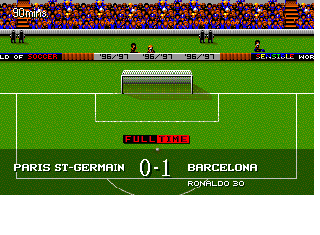 Screenshot Thumbnail / Media File 1 for Sensible World of Soccer '96-'97