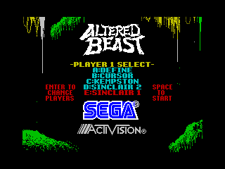 Screenshot Thumbnail / Media File 1 for Altered Beast (1988)(Activision)(128k)