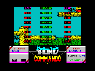 Screenshot Thumbnail / Media File 1 for Bionic Commando (1988)(Go - Capcom)
