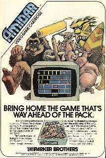 Screenshot Thumbnail / Media File 1 for Amidar (1982) (Parker Brothers, Ed Temple) (PB5310)