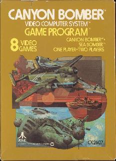 Screenshot Thumbnail / Media File 1 for Canyon Bomber (Paddle) (1979) (Atari, David Crane - Sears) (CX2607 - 6-99828, 49-75115)