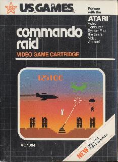 Screenshot Thumbnail / Media File 1 for Commando Raid (1982) (U.S. Games Corporation, Wes Trager) (VC1004)