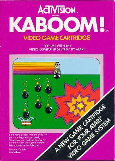 Screenshot Thumbnail / Media File 1 for Kaboom! (Paddle) (1981) (Activision, Larry Kaplan, David Crane) (AG-010, AG-010-04)