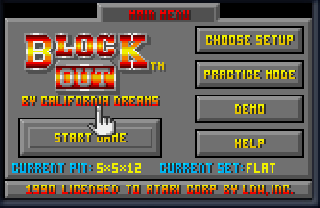 Screenshot Thumbnail / Media File 1 for Block Out (USA, Europe)