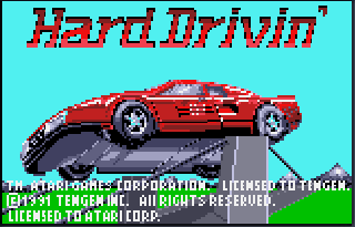 Screenshot Thumbnail / Media File 1 for Hard Drivin' (USA, Europe)