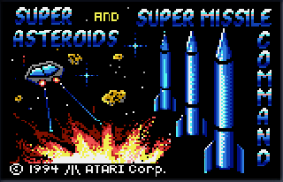 Screenshot Thumbnail / Media File 1 for Super Asteroids, Missile Command (USA, Europe)