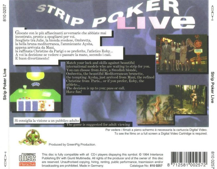 Live Poker Strip