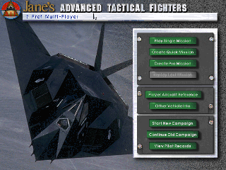 Screenshot Thumbnail / Media File 1 for Advanced Tactical Fighters (1996)(Electronic Arts)
