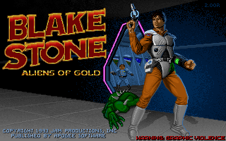 Screenshot Thumbnail / Media File 1 for Blake Stone Aliens Of Gold Original Install (1993)(Apogee Software)