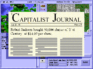 Screenshot Thumbnail / Media File 1 for Capitalism (1995)(Interactive Magic)