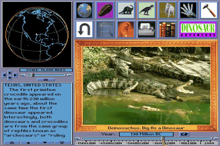 Dinosaur Adventure (1993)(Knowledge Adventure) Game < DOS