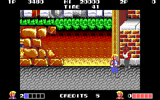 Screenshot Thumbnail / Media File 1 for Double Dragon (1988)(Arcadia Tradewest Inc)