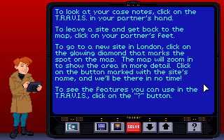 Screenshot Thumbnail / Media File 1 for Eagle Eye Mysteries in London (1993)(Electronic Arts)