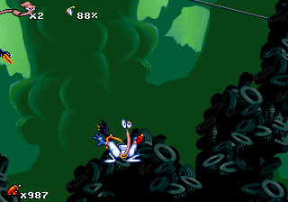 Screenshot Thumbnail / Media File 1 for Earthworm Jim (1994)(Shiny Entertainment)