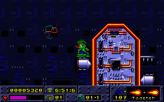 Screenshot Thumbnail / Media File 1 for Jazz Jackrabbit (1994)(Epic Megagames Inc)