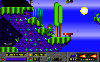 Screenshot Thumbnail / Media File 1 for Jazz Jackrabbit CD (1995)(Epic Megagames)(M4)