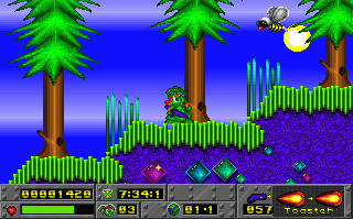 Screenshot Thumbnail / Media File 1 for Jazz Vs Turtle (1995)(Epic Studios)