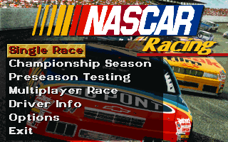 Screenshot Thumbnail / Media File 1 for Nascar Racing Palette Fix (1995)(Papyrus)