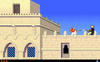 Screenshot Thumbnail / Media File 1 for Prince Of Persia 2 The Shadow And The Flame (1993)(Broderbund Software Inc)