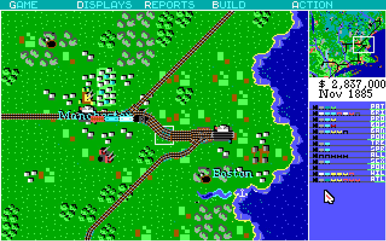 Resultado de imagen para Railroad Tycoon 1990