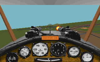 Screenshot Thumbnail / Media File 1 for Red Baron (1990)(Sierra Online)(Rev)