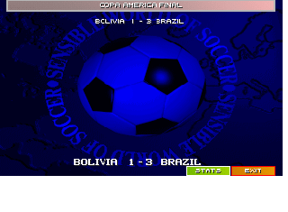 Screenshot Thumbnail / Media File 1 for Sensible World of Soccer 96 97 (1996)(Time Warner)