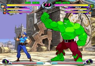 Screenshot Thumbnail / Media File 1 for Marvel vs. Capcom 2 - The New Age of Heroes (USA)
