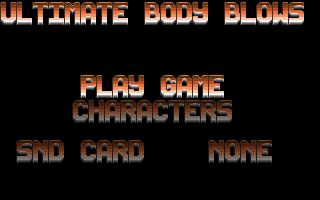 Screenshot Thumbnail / Media File 1 for Ultimate Body Blows (1994)(Team 17)
