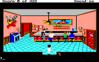 Screenshot Thumbnail / Media File 1 for Leisure Suit Larry in the Land of the Lounge Lizards (Amiga)