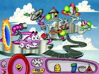 Screenshot Thumbnail / Media File 1 for Putt-Putt Travels Through Time (CD DOS)