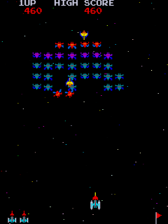 Screenshot Thumbnail / Media File 1 for Galaxian (Taito)