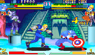Screenshot Thumbnail / Media File 1 for Marvel Vs. Capcom 2 New Age of Heroes (Export, Korea, Rev A)