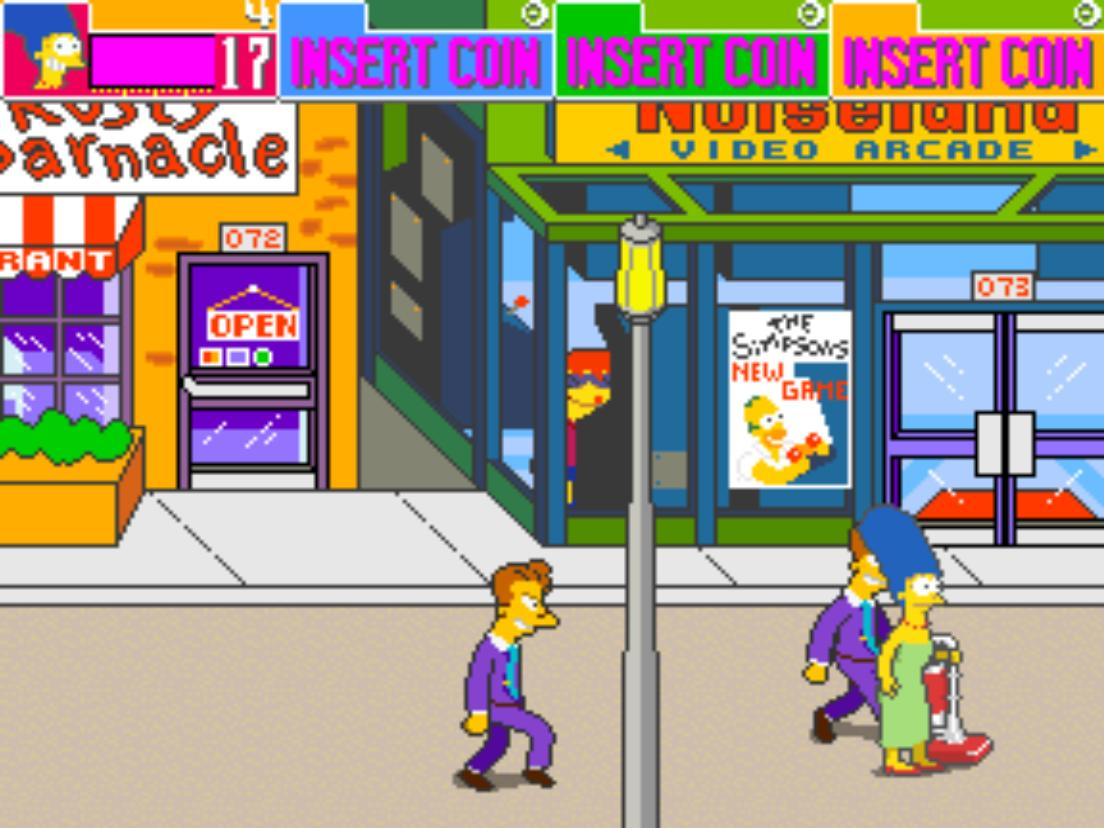 the simpsons mame rom