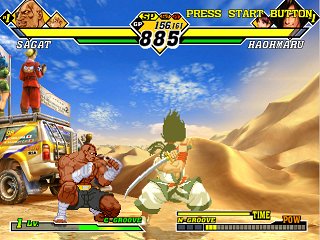 Screenshot Thumbnail / Media File 1 for Capcom vs. SNK 2 - Millionaire Fighting 2001 (Japan)