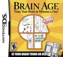 Brain Age - Train Your Brain in Minutes a Day! (U)(Trashman) Box Art