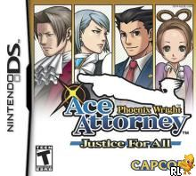 Phoenix Wright Ace Attorney - Justice For All (U)(XenoPhobia) Box Art