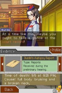 Phoenix Wright Ace Attorney - Justice For All (E)(FireX) Screen Shot