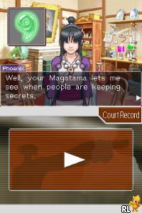 Phoenix Wright - Ace Attorney - Trials and Tribulations (U)(XenoPhobia) Screen Shot