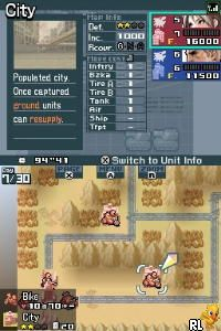 Advance Wars - Days of Ruin (U)(Independent) Screen Shot