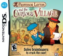 Professor Layton and the Curious Village (U)(Micronauts) Box Art